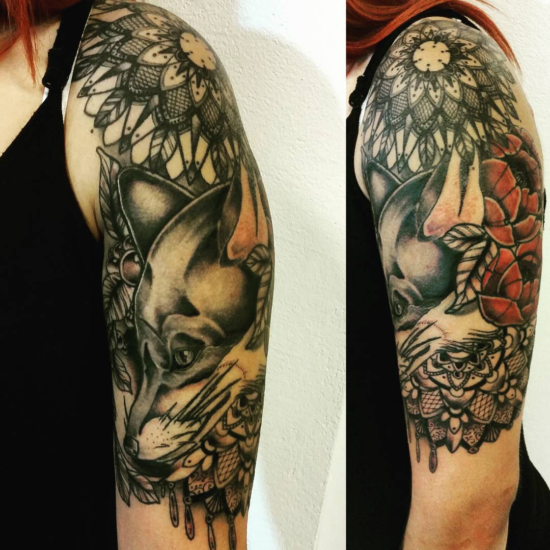 Fox Shoulder Tattoo Best Tattoo Ideas Gallery for proportions 1080 X 1080