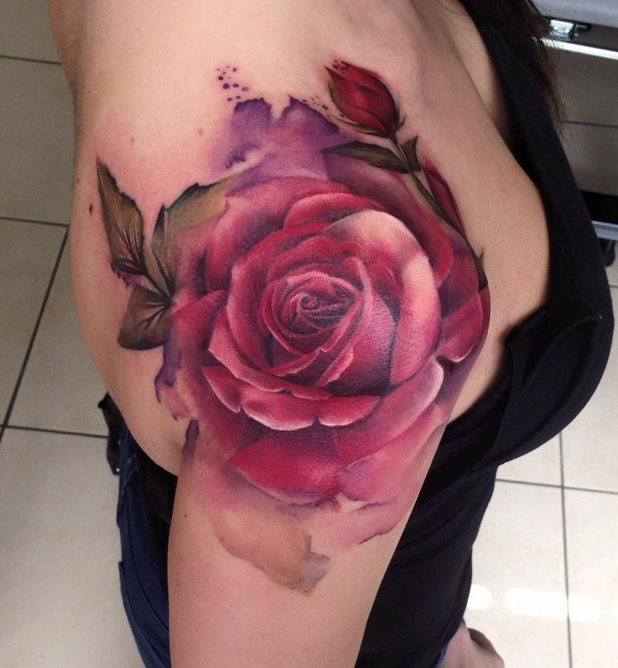 Ooh Love This Tattoo Love The Watercolor Style Beautiful Colors within size 880 X 951