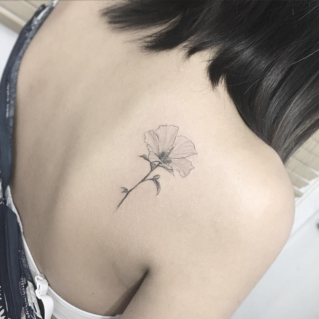 Rose Of Sharon Beautiful Tattoos Small Shoulder Tattoos Small inside measurements 1080 X 1080