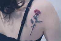 Rose Tattoo On The Shoulder Blade Upper Back Tattoos Rose pertaining to sizing 1080 X 819