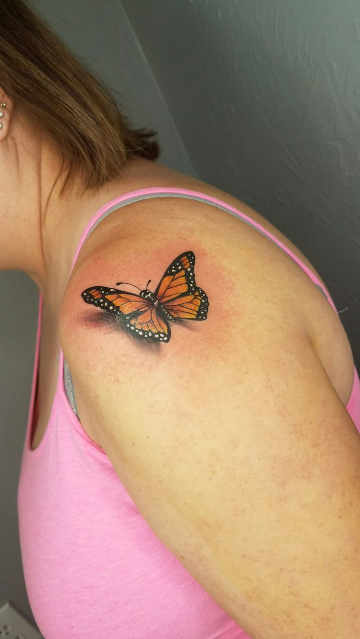 Shoulder Butterfly Tattoo Designs Ideas And Meaning Tattoos For You for size 736 X 1308