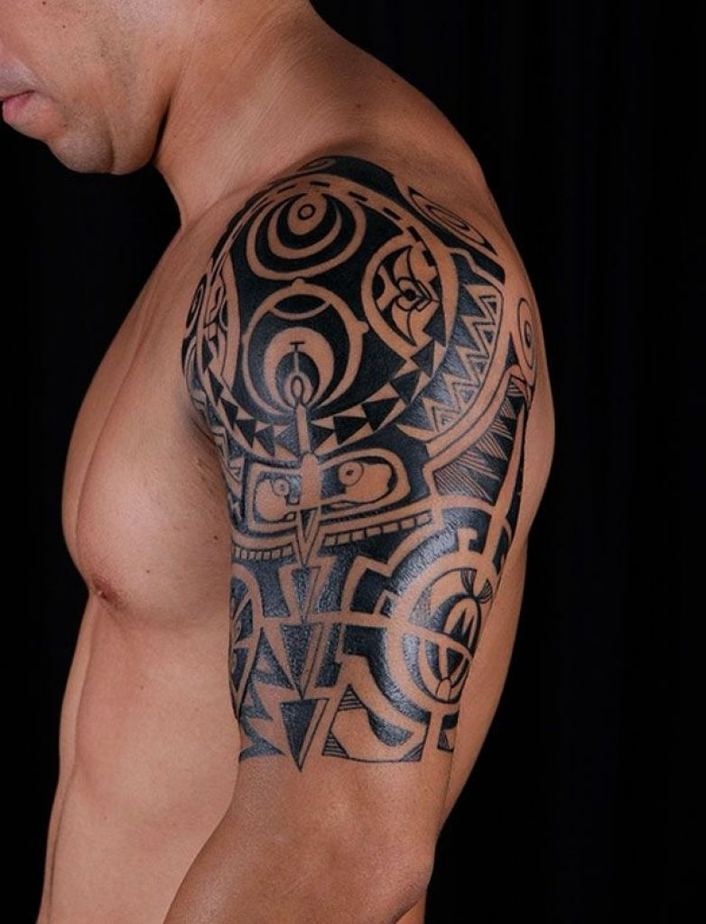 Shoulder Tattoos For Men Mens Shoulder Tattoo Ideas With Tattoo On with regard to measurements 782 X 1024