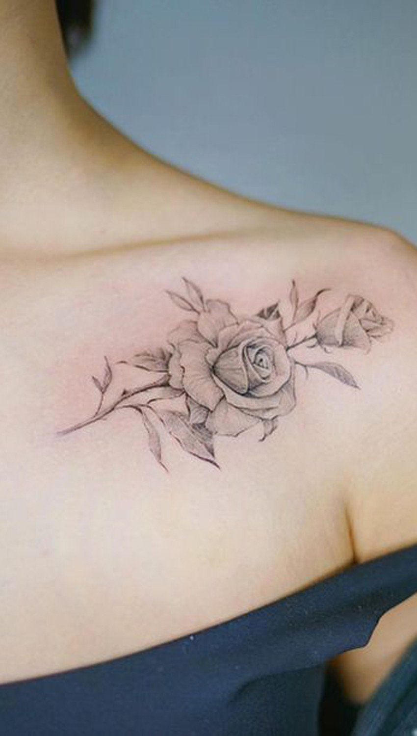 Simple Rose Tattoo On Shoulder Mybodiart Tattoo Ideas in measurements 850 X 1500