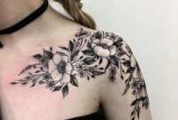 The 81 Most Gorgeous Blackwork Flower Tattoos Tattoos Flower in measurements 1080 X 1080