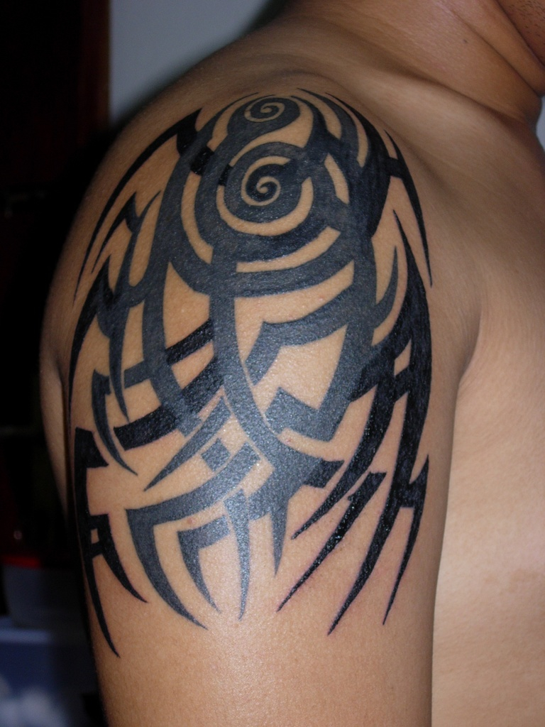 Tribal Shoulder Tattoo Cover Up Rework Tribal Tattoos with regard to measurements 768 X 1024